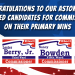 Congratulations To Our Endorsed Candidates for Commissioner
